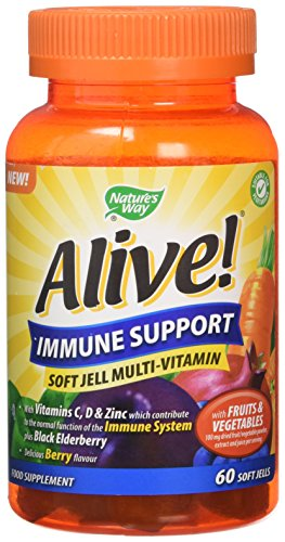 Alive! Immune Support Soft Jell Multivitamins - 60 chewable gummies