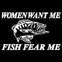 車の装飾 15CM * 9.6CM女性は私の魚恐怖ミーバストラウトナマズ車のステッカーデカール魚ビニールアート装飾ブラック/シルバーをしたいです ビニールステッカー (Color Name : Silver)