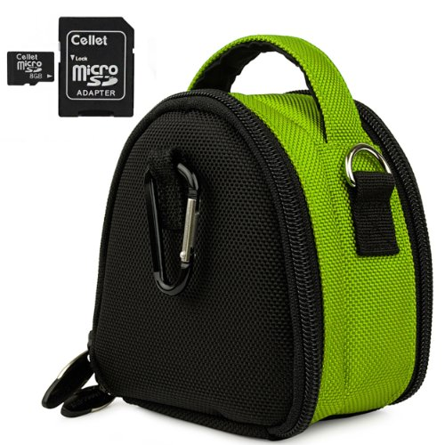 Premium Laurel Shoulder Carrying Bag with Extra Pockets (Green) for Canon Power Shot HS A Series Powershot Point and Shoot Digital Camera