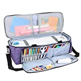 Luxja Carrying Bag Compatible with Cricut Die-Cutting Machine and Supplies, Tote Bag Compatible with Cricut Explore Air (Air2) and Maker (Bag Only, Patent Pending), Purple