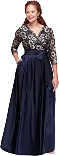 8bcb91003c4 Plus Size Floral Lace and Shantung Ball Mother of Bride Groom Gown Style  JHDW1501