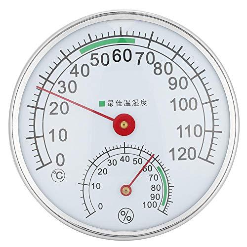 Fditt Type de tenture Murale Thermomètre de pièce de Sauna Hygromètre Outil de Mesure d'humidité de la température pour Accessoire de Sauna