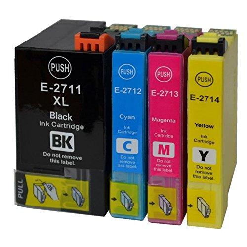Set di cartucce d' inchiostro come T27 XL Nero, Ciano, Magenta e Giallo - 4 cartucce in XL CAPACITA T2711, T2712, T2713, T2714