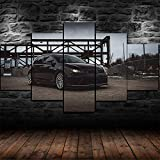 5 Panel/Set Lienzos Handart Cuadro En Lienzo Cinco Partes HD Clásico Óleo Impresiones Decorativas Cartel Arte Pared Pinturas Hogar Lienzo Póster Golf 7 Mk7 R