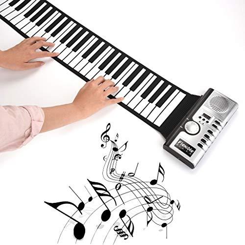 Hand roll piano Roll Up Piano Tragbare 61 Tasten Elektronische Musik Instrument Handrolle Klavier Umwelt Silikon Tastatur Horn Kind Erwachsenes Spielzeug