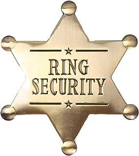 شارة الأمن الدائري، مصنوعة من المعدن، هدية حامل الخاتم، اكسسوارات الزفاف للأولاد، تذكار الزفاف (خاتم الأمان)