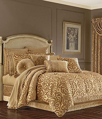 Sicily Gold Bedding Collection by J Queen New York (King 4 Piece Comforter Set)