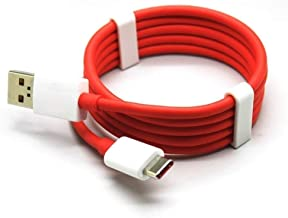 Croiky Fast Data Sync Charging Cable Compatible with All One Plus & C Type Devices (Red & White)