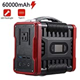 U`King 222Wh/60000mAh Portable Power Station, Outdoor Generators with DC/AC /QC3.0 USB/Type-C, Charge