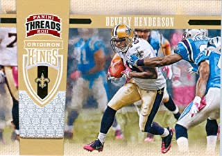 2011 Panini Threads Authentic Devery Henderson Game Worn Jersey Card