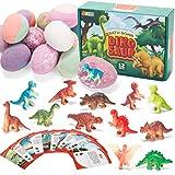 JOYIN Paquete de 12 Bombas de Baño de Burbujas con Juguetes Sorprendentes de Dinosaurios en el Interior, Baño de SPA de Aceite Esencial Natural, Regalo de Cumpleaños para Niños y Niñas