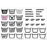 Wandkings Wäsche Aufkleber - selbstklebende & transparente Etiketten zum einfachen...