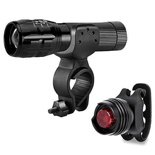CREE Q5 LED de vélo de montagne Vélo Cyclisme Zoomable lampe torche avant + Feux arrière