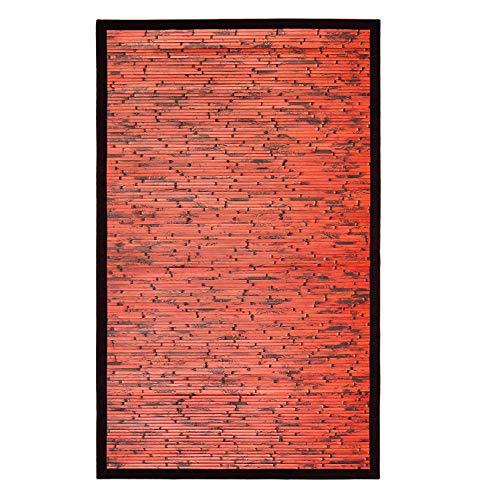 Anji Mountain Cobblestone Mahogony Rug, 5 x 8', Mahogany