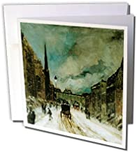 Street Scene with Snow 57th Street N.Y.C, Robert Henri - Greeting Cards, 6 x 6 inches, set of 6 (gc_126934_1)