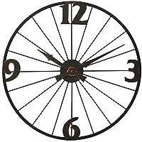 壁時計シンプルなヨーロッパのレトロな壁掛け鍛造鉄の創造的な時計ミュートクォーツ時計装飾的な時計