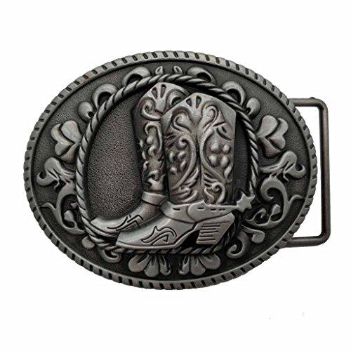 YONE Hebilla de cinturón Cowboy Spur Boots Western Rodeo Belt Buckle