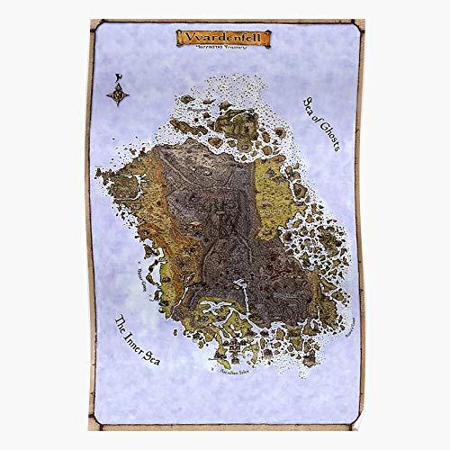 fashionAAA Map Retro Gaming Vintage Scrolls Elder Morrowind Vvardenfell Das eindrucksvollste und stilvollste Poster für Innendekoration, das derzeit erhältlich ist