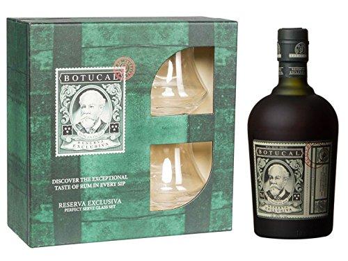 Rum Botucal Reserva Exklusiva in Geschenk - Box inklusive 2 Rum - Gläser