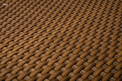 Revestimiento de poliratán para balcón, elemento de ocultación para balcón color antracita, marrón, blanco, negro, cobre, verde, al metro, cubierta para balcón, RD13 - honig