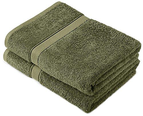 Buoqua Moss cotone Set di 2asciugamani da bagno, 600g/m²