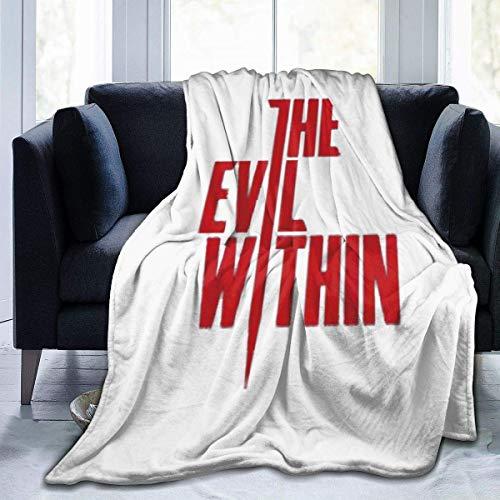lanjiangbaih The-Evil-Within Manta para sofá o Silla, Manta de Cama Perezosa, Regalo para niños y Adultos, 80 x 152 cm, Ver Imagen, 60x50 Inch