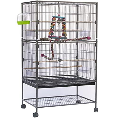 LTZ Grande Gabbia per Uccelli in Metallo, Pappagalli, Storni, Gabbia per Piccioni da Cortile, Supporto per Stazione di Alimentazione (Color : B)
