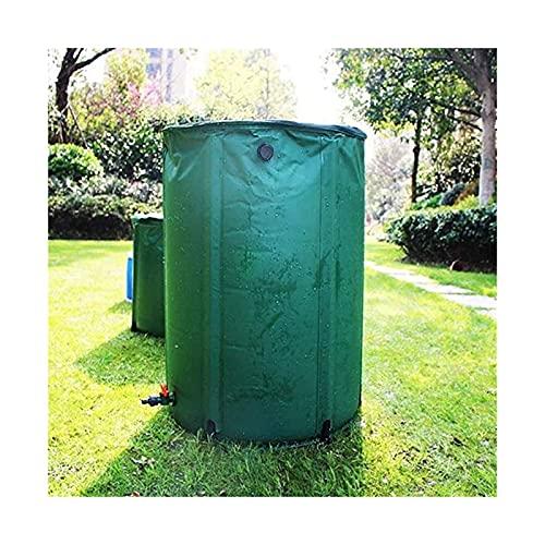 Contenedor De Almacenamiento De Agua De Lluvia, Cubo Plegable Flexible, Tanque De Agua Antienvejecimiento Portátil Usado Para Camping Al Aire Libre, Viaje ( Color : Green , Size : 225L/60x80cm )