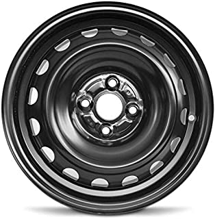 Road Ready Car Wheel For 2012-2019 Toyota Prius 15 Inch 4 Lug Black Steel Rim Fits R15 Tire - Exact OEM Replacement - Full-Size Spare
