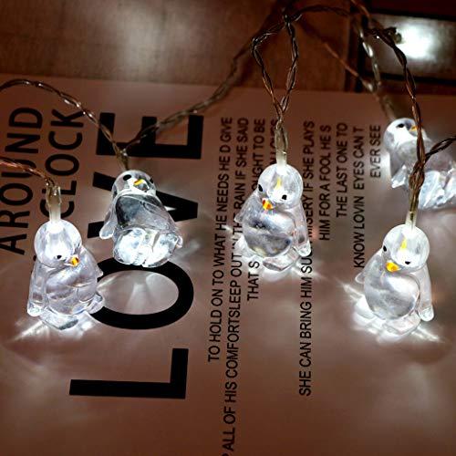 FENSIN LED Lichterketten Weihnachten Deko Pinguin Tierform Lichterketten 10 LED 1.65M für Zimmer Innen Außen Home Party Hochzeit DIY