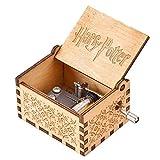 LMIX Harry Potter Carillon Manovella in Legno, Meccanismo 18 Note Carillon Antico Intagliato a Adatto per Miglior Regali di Natale e San Valentino per Bambini e Amici (Marrone)