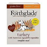 Forthglade Complete Natural Wet Dog Food - Senior Grain Free Turkey (18 x 395 g) Trays