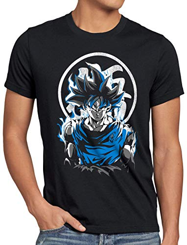style3 Super Saiyan God Blue Camiseta para Hombre T-Shirt Vegeta dragón, Talla:M
