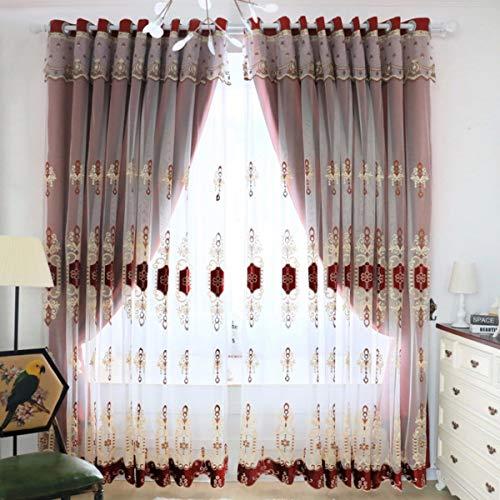 WBXZAL-Rideaux Produit Fini Simple Rideau Double Decker Salon Chambre Moderne européenne dans l'ombre Gaze Nordiques,150,D