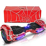 """Emaxusa Hoverboard With Bluetooth Self Balancing Hoverboard For Adults 6.5"""" Two-Wheeled Speaker Bluetooth Hoverboard With LED Lights Hoverboard Scooter For Kids Age 6-12– Meet UL2272 Standards (Red)"""