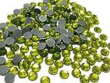 Perlin Hotfix 489 - Piedras de estrás, 3 mm, SS10, 7200 Unidades, peridoto Verde, Calidad AAA, para Planchar, Piedras Brillantes, Piedras Brillantes