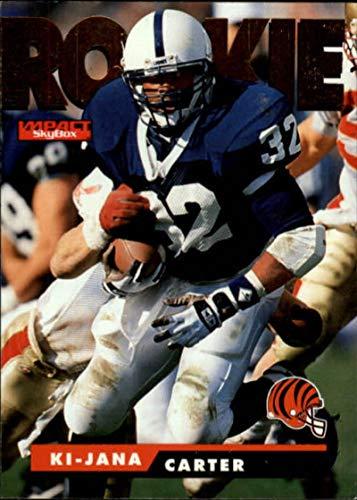 Football NFL 1995 SkyBox Impact #169 Ki-Jana Carter #169 NM RC Rookie Bengals