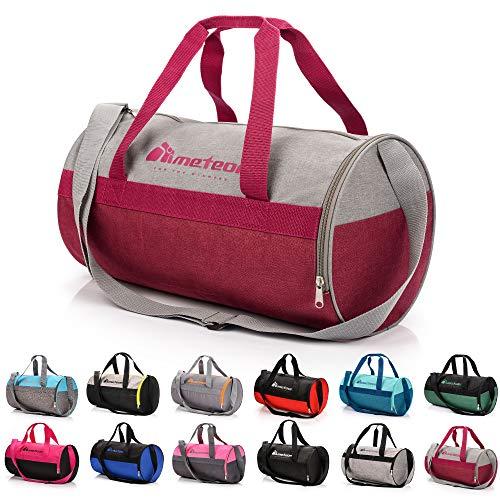 meteor Bolsa Deporte Viaje Gimnasio con Compartimento Separado para Zapatos Duffle Bag para Hombre Mujer Ultraligera Plegable Bolsa Deportiva 25 L Yoga Bolsa Fin de Semana (púrpura Gris, 25 L)