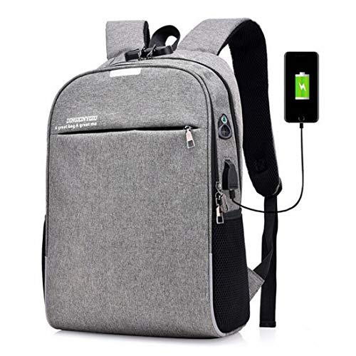 Travel Backpack Hiking Rucksack College Backpack, Business Slim Laptop Backpack With USB Charging Port,Water Resistant Computer Bag For Women & Men Fits 16 Inch Laptop And Notebook Casual Daypack