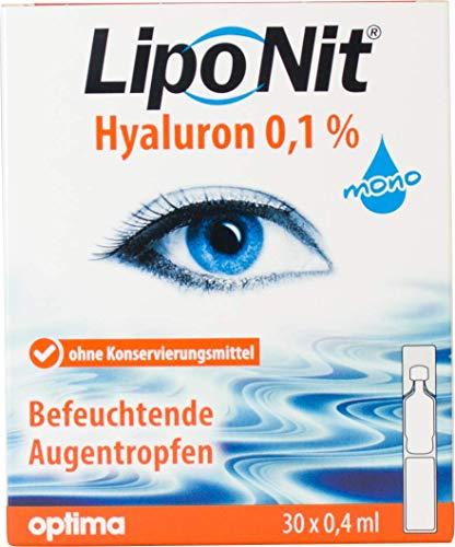Liponit Augentropfen mono 0,1% Hyaluron, 1er Pack(1 x 20 ml)