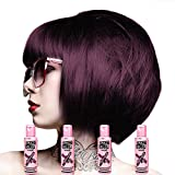 Crazy Colour Semi Permanent Hair Dye By Renbow Aubergine No.50 100ml Box of 4