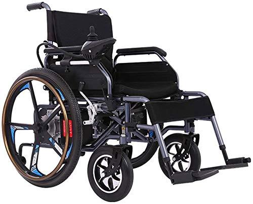 Silla de ruedas eléctrica plegable Silla de ruedas, función dual ligero plegable silla de ruedas eléctrica, eléctrica de transporte respetuosos con peso ligero, plegable Silla eléctrica for adultos, c