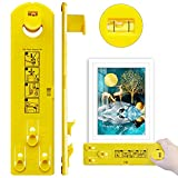 Picture Hanger Tool, Cathunez Picture Hanger Tool with Level Ruler and Marking Nail, Wall Hanging Kit Suitable for Photo Frames, Mirrors, Clocks, Artwork Hang it Perfect