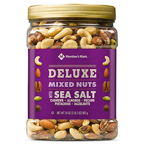 Member's Mark Deluxe Mixed Nuts with Sea Salt, Salty, 34 Ounce Pack of 10