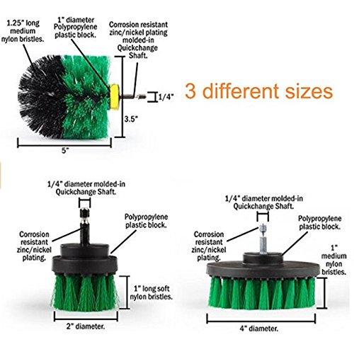 oobest boormachine accessoires voor het reinigen van tanks vloer van nylon met metalen handvat groen
