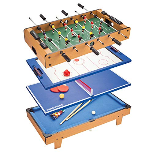 Jacks household 4FT 4 in 1 Multi Combo Game Table with 4 Games in 1 Set: Table Tennis Pool Table Hockey Table Foosball Table