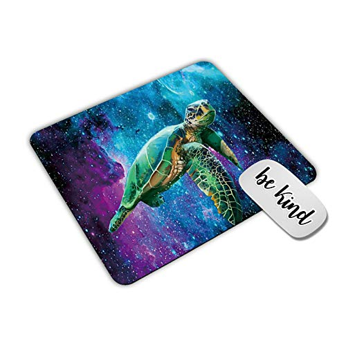Dikoer Sea Turtle in Galaxy Mouse Pad for laptops Office Computer Decor,Cute Gaming Mousepad with Design,Non Slip Rubber Mouse mat and be King Sticker