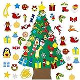 Árbol de Navidad de Fieltro for Niños árbol de Navidad DIY con 34 Piezas de Adornos for Niños Pequeños Decoración de la Pared de la Ventana de la Puerta del Hogar