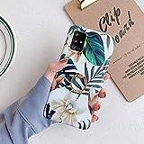 Uposao Cover Compatibile con Samsung Galaxy A71 Shiny Fiore Rose Colorato Brillantini Modello Disegni con Supporto ad Anello Morbida TPU Silicone Gel Gomma Bumper Cover,Gelsomino