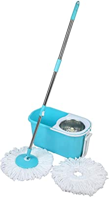 Esquire Classic Mop Bucket Set with Metal Bowl with 1 Extra Refill